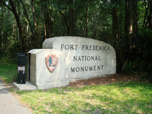 Fort Frederica National Monument St. Simons Island Georgia