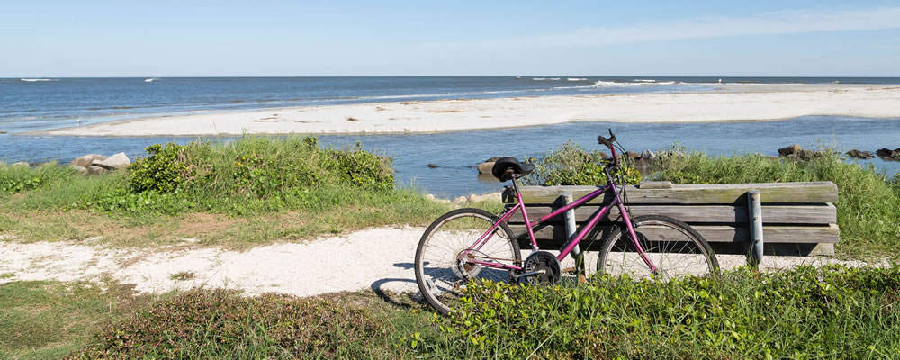 Bicycling on St. Simons Island Beach